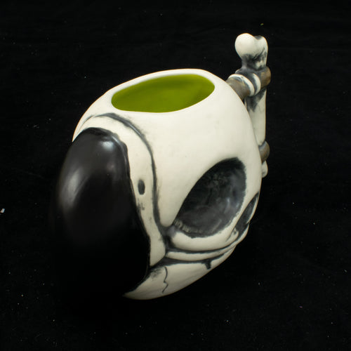 Parrot Skull Tiki Mug, Matte with Chartreuse Green