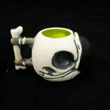Load image into Gallery viewer, Parrot Skull Tiki Mug, Matte with Chartreuse Green