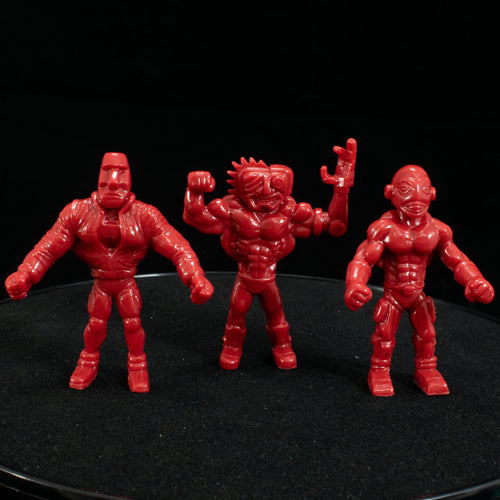 Tiki Melee T.I.K.I. Series 2 figures, Set of 3, Red