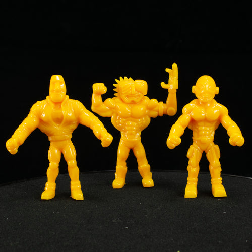 Tiki Melee T.I.K.I. Series 2 figures, Set of 3, Caution Yellow