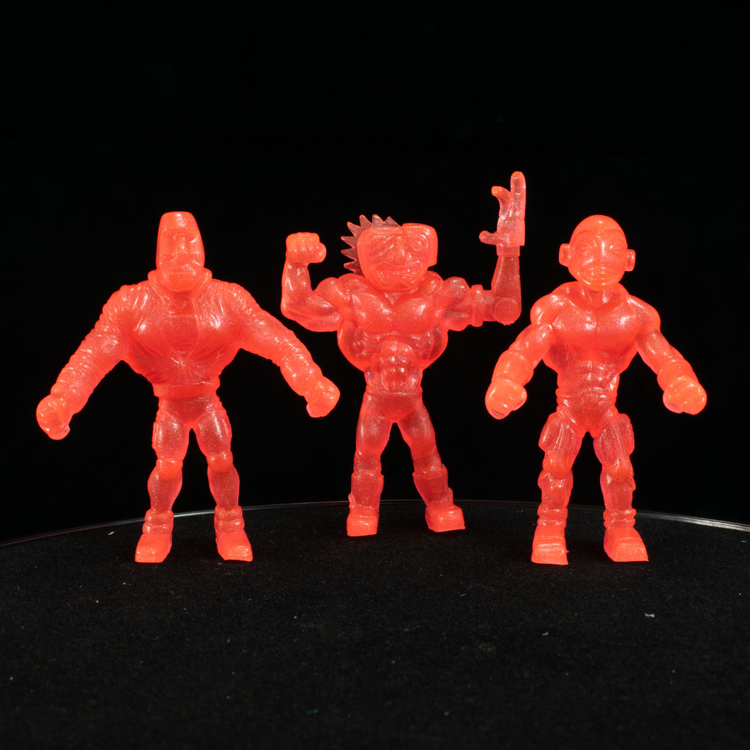 Tiki Melee T.I.K.I. Series 2 figures, Set of 3, Neon Red Pearl