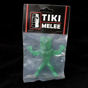 Tiki Melee Ku Krusher One Off Figure, Green Glitter