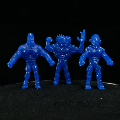 Tiki Melee T.I.K.I. Series 2 figures, Set of 3, UV Future Blue