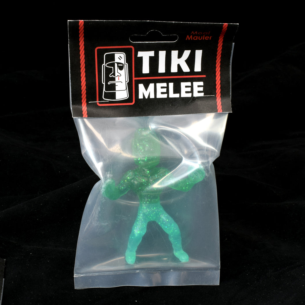 Tiki Melee Moai Mauler One Off Figure, Two Toned Glitter