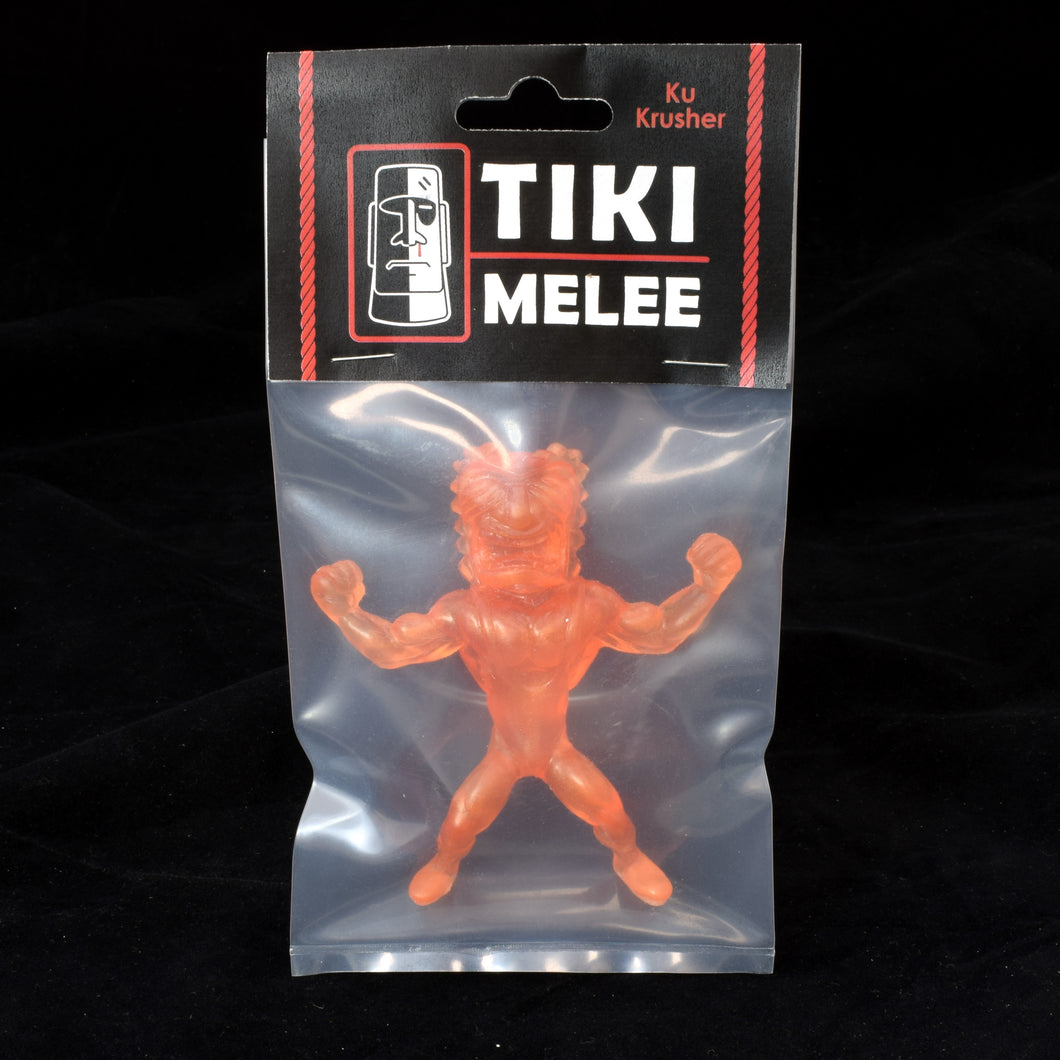 Tiki Melee Ku Krusher One Off Figure, Translucent Orange Pearl