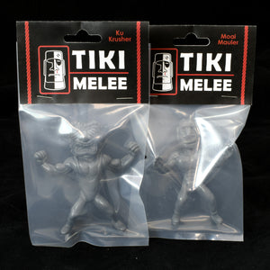 Tiki Melee Ku Crusher and Moai Mauler One Off Pair, Grey