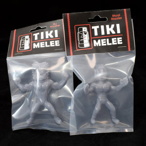Tiki Melee Ku Crusher and Moai Mauler One Off Pair, Light Grey