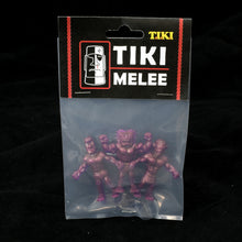 Load image into Gallery viewer, Tiki Melee T.I.K.I. figures One Off, Set of 3, Translucent Purple Interference Gold