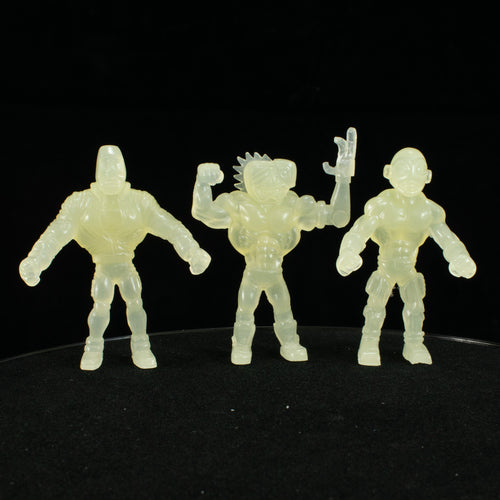 Tiki Melee T.I.K.I. Series 2 figures, Set of 3, Glow In the Dark