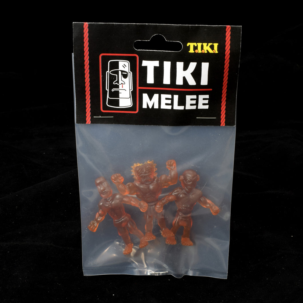 Tiki Melee T.I.K.I. figures One Off, Set of 3, Cola color