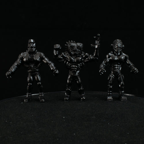 Tiki Melee T.I.K.I. Series 2 figures, Set of 3, Black