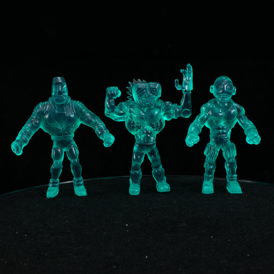 Tiki Melee T.I.K.I. Series 2 figures, Set of 3, Baja Blue