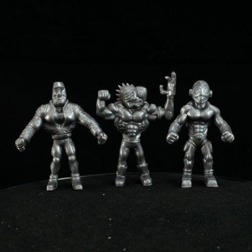 Tiki Melee T.I.K.I. Series 2 figures, Set of 3, Robot Silver