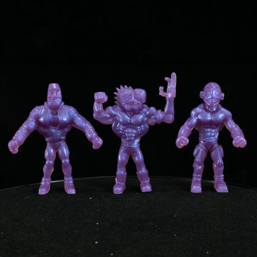 Tiki Melee T.I.K.I. Series 2 figures, Set of 3, Mystic Purple