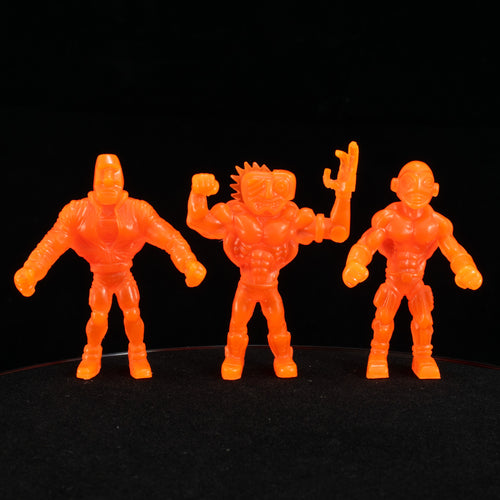 Tiki Melee T.I.K.I. Series 2 figures, Set of 3, Neon Orange