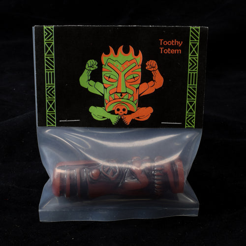 Toothy Tiki Totem Minifigure One Off, Red Earth Wipe Away