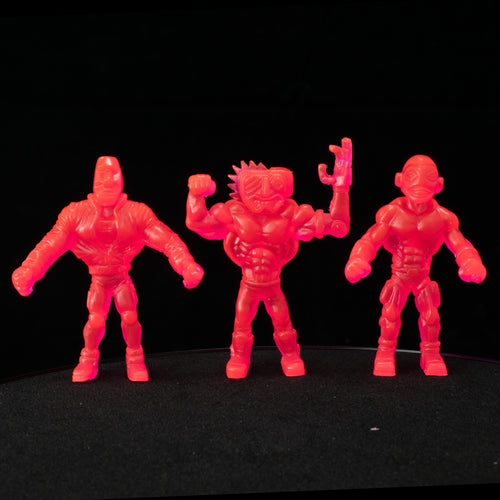 Tiki Melee T.I.K.I. Series 2 figures, Set of 3, Neon Pink