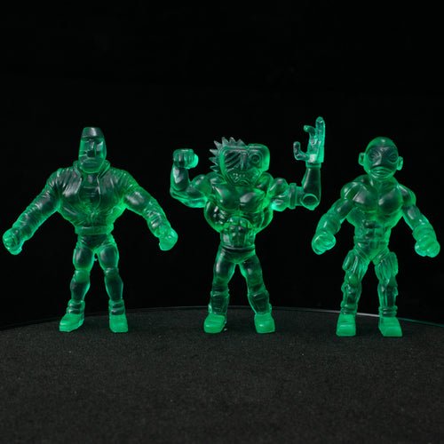 Tiki Melee T.I.K.I. Series 2 figures, Set of 3, Aqua Crystal Green