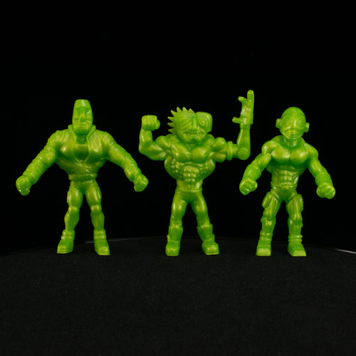 Tiki Melee T.I.K.I. Series 2 figures, Set of 3, Toxic Pearl Green
