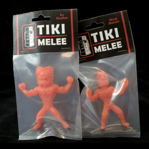 Tiki Melee Ku Crusher and Moai Mauler One Off Pair, Tomato Soup