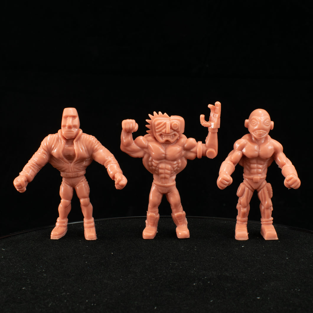 Tiki Melee T.I.K.I. Series 2 figures, Set of 3, Pink Keshi