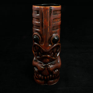 Toothy Tiki Mug, Fire Away with Black Interior Glaze