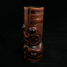 Load image into Gallery viewer, Toothy Tiki Mug, Fire Away with Black Interior Glaze