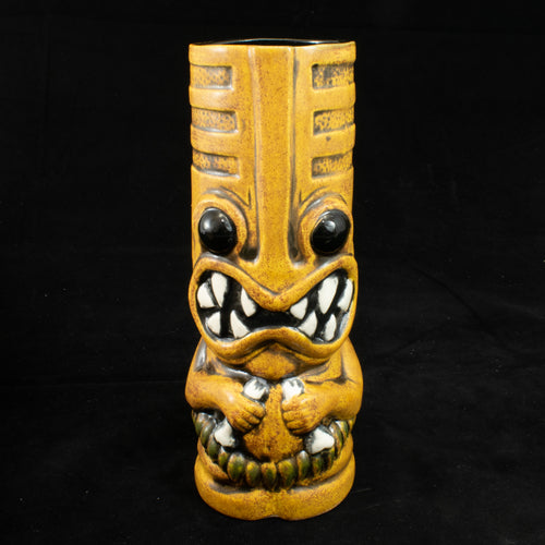 Toothy Tiki Mug, Spice Wipe Away with Black Interior Glaze