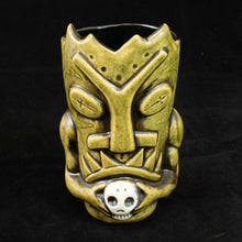 Load image into Gallery viewer, Terrible Tiki Mug, Olive Wipe Away with black Interior