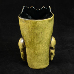 Terrible Tiki Mug, Olive Wipe Away with black Interior