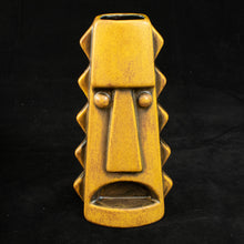 Load image into Gallery viewer, Tall Spiky Tiki Mug, Yellow Spice Wipe Away with Black Interior