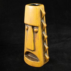 Tall Spiky Tiki Mug, Yellow Spice Wipe Away with Black Interior