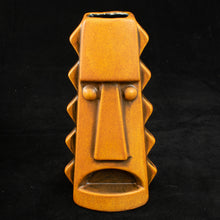 Load image into Gallery viewer, Tall Spiky Tiki Mug, Orange Spice Wipe Away with Black Interior