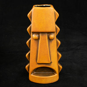 Tall Spiky Tiki Mug, Orange Spice Wipe Away with Black Interior
