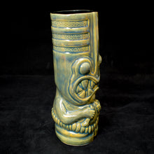 Load image into Gallery viewer, Toothy Tiki Mug, Gloss Blue Runny Glaze