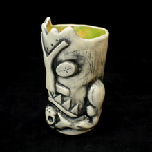 Load image into Gallery viewer, Terrible Tiki Mug, White Wipe Away with Green Interior