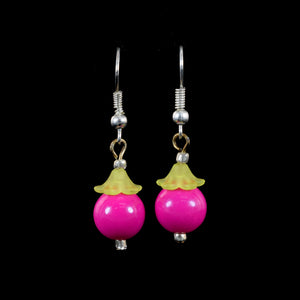 Hanging Fruit Earrings, Fuschia