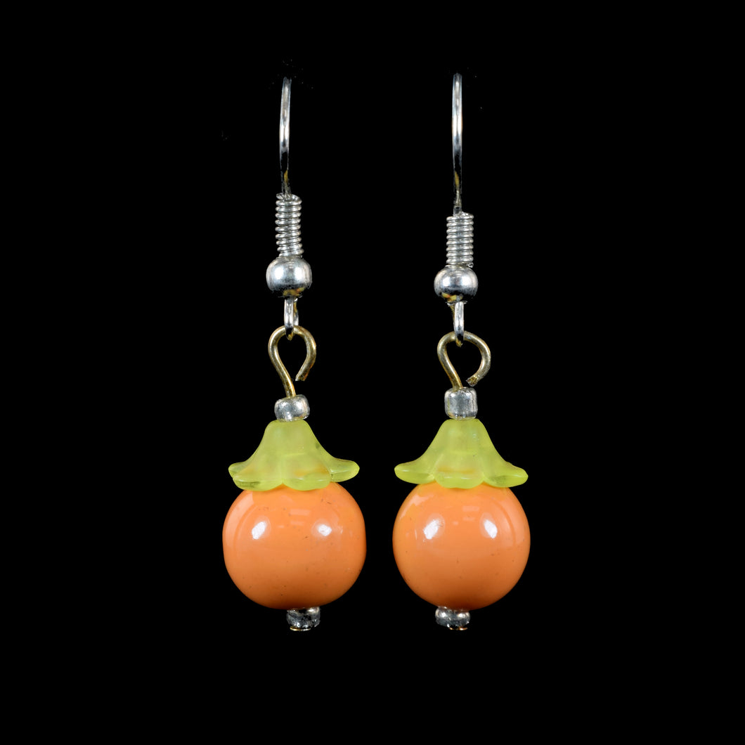 Hangin Fruit Earrings, Orange
