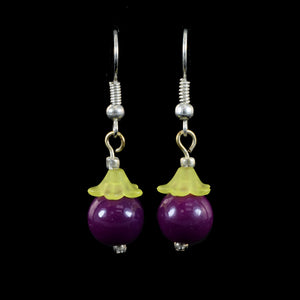 Hanging Fruit Earrings, Purple