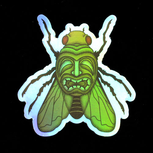 Holographic Tiki Fly Sticker
