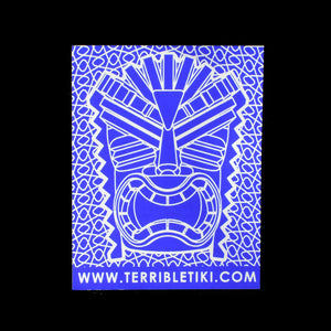 Blue Chrome KU Tiki Sticker