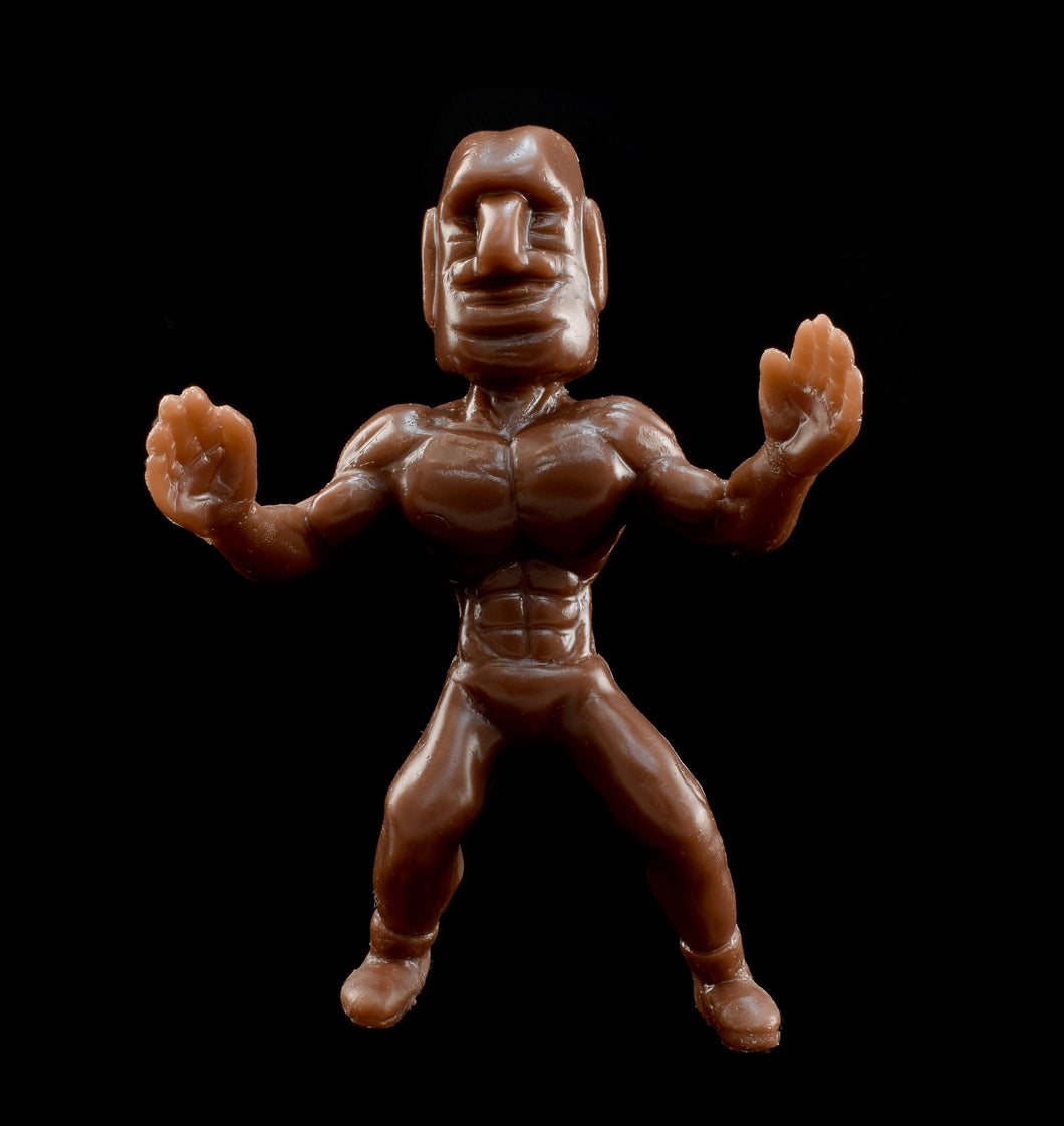 Tiki Melee Moai Mauler Brown Figure