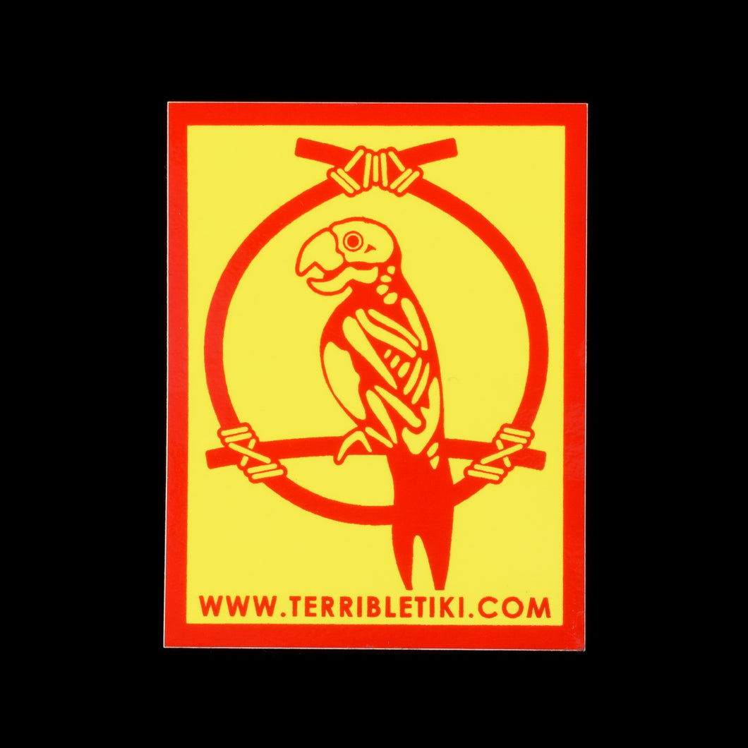 Enchanted Parrot Skeleton Sticker 2