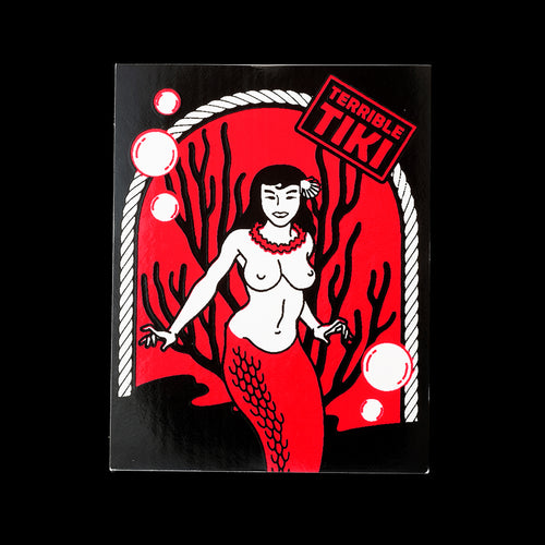 Red Mermaid Sticker
