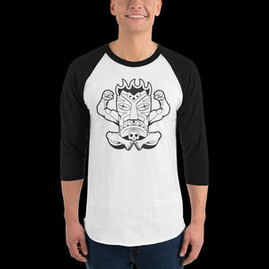 Terrible Tiki Black and White 3/4 Tee