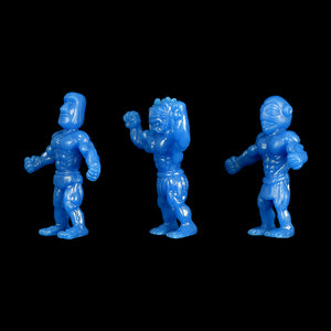 Tiki Melee T.I.K.I. figures, Set of 3, Blue color