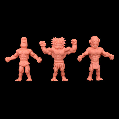 Tiki Melee T.I.K.I. figures, Set of 3, Flesh color