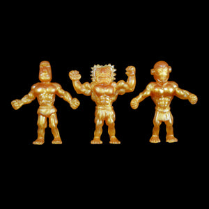 Tiki Melee T.I.K.I. figures, Set of 3, Gold Pearl Color