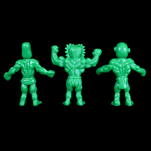 Tiki Melee T.I.K.I. figures, Set of 3, Green color