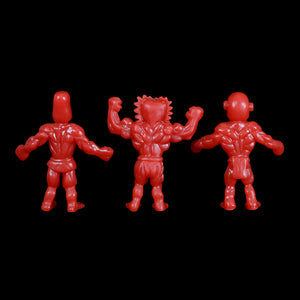Tiki Melee T.I.K.I. figures, Set of 3, Red Color